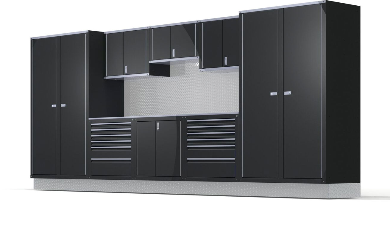 Luxury garage cabinets by Iconic Cabinets